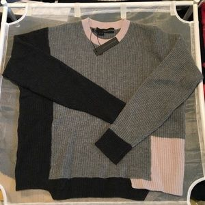360cashmere color blocked sweater